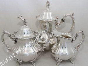 Сервиз чайник сахарница сливочник серебрение 6 | Ярмарка Мастеров - ручная работа, handmade