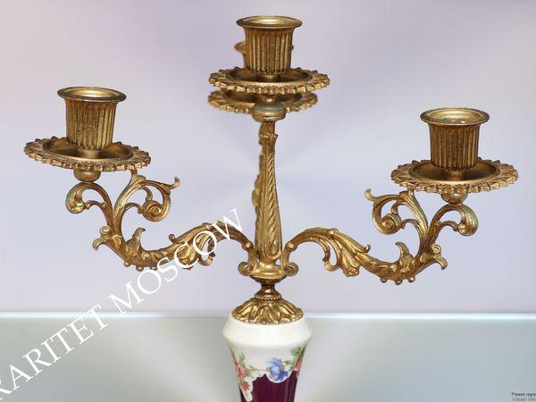 Подсвечник лев фарфор латунь золото Италия 24 | Ярмарка Мастеров - ручная работа, handmade