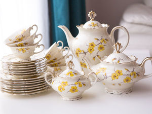 1930-40 гг., чайный сервиз на 7 персон, Carstens Porzellanfabrik Sorau. Ярмарка Мастеров - ручная работа, handmade.