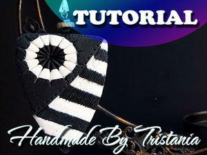 Лепим оригинальный кулон «Черное и белое» из полимерной глины: видеоурок. Ярмарка Мастеров - ручная работа, handmade.