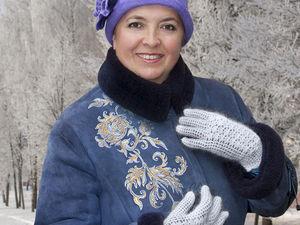 Роспись дубленки к Новому году. Ярмарка Мастеров - ручная работа, handmade.