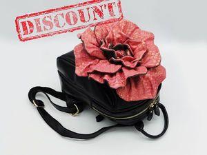 Discount на кожаные женские рюкзаки. Ярмарка Мастеров - ручная работа, handmade.