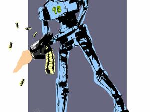 День 43. Комбинированная графика «Ретробот-2». Ярмарка Мастеров - ручная работа, handmade.