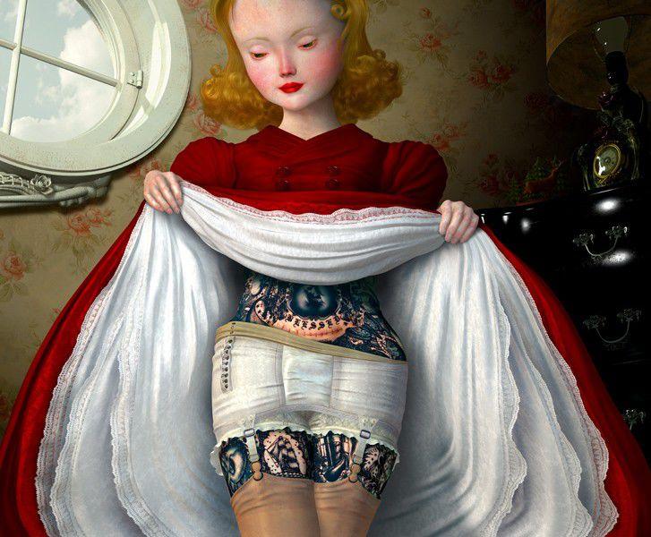 девочка, необычные украшения