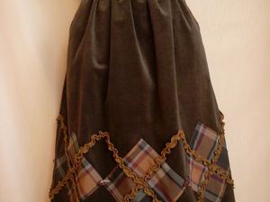 20% скидка на готовую вельветовую юбку. Ярмарка Мастеров - ручная работа, handmade.