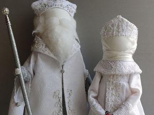 Создаем Деда Мороза и Снегурочку. Часть 2. Ярмарка Мастеров - ручная работа, handmade.