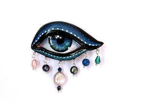 Новая необычная брошь «Всевидящее око», брошь-глаз. Ярмарка Мастеров - ручная работа, handmade.