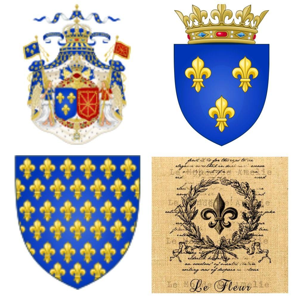 гербы королей Франции