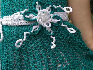 Фотоотчет для детского платья крючком ИЗУМРУД. Ярмарка Мастеров - ручная работа, handmade.