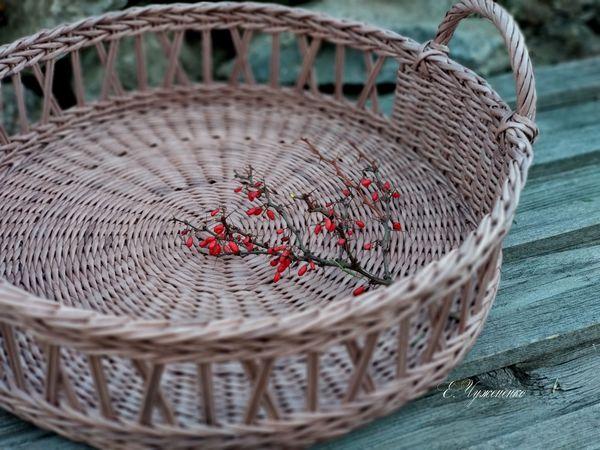 Закрыт! Аукцион с нуля на плетеный поднос Девоншир | Ярмарка Мастеров - ручная работа, handmade