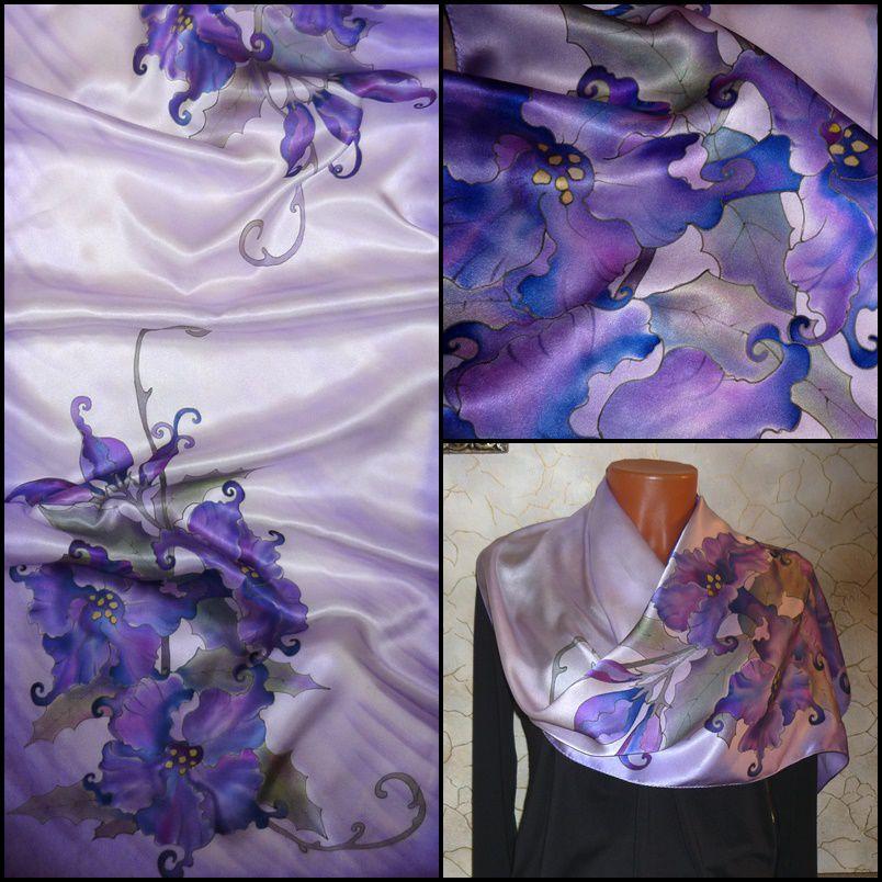шарф шёлковый