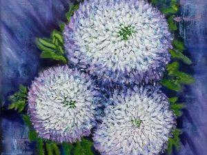 Хризантемы в галерее). | Ярмарка Мастеров - ручная работа, handmade
