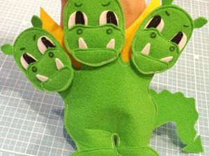 A Cool Kid's DIY on Sewing a Dragon Finger Puppet Toy. Livemaster - handmade
