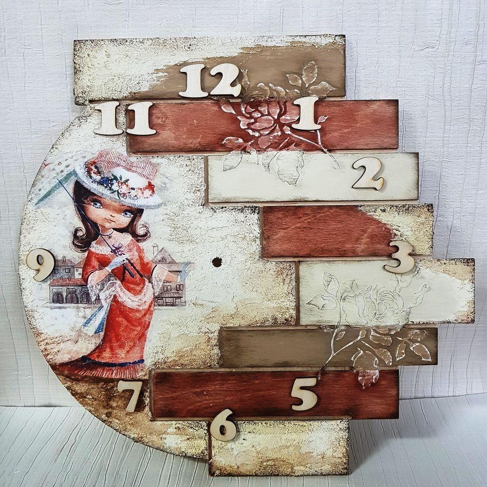 Часы с рельефом и объемными элементами,МК подходит для начинающих!, фото № 1