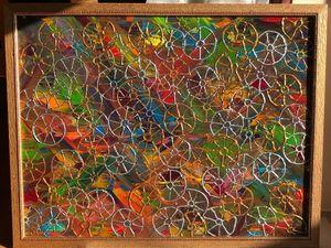 "абстракция!!! картина ""Колеса Истории""  — аукцион!. Ярмарка Мастеров - ручная работа, handmade."