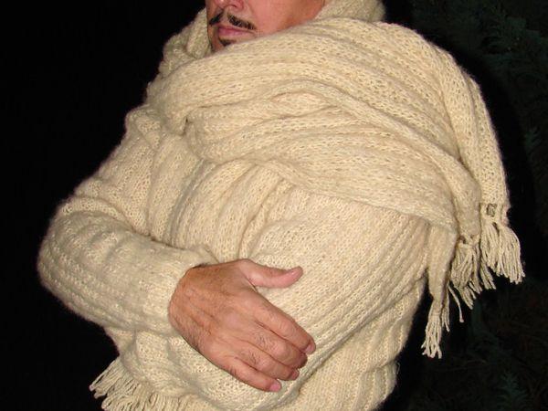 Акция!!! – безумная скидка 70%  на свитер «Белый Командор» . | Ярмарка Мастеров - ручная работа, handmade