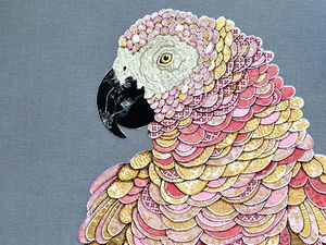 Textile Feathers: Stunning Work by Zara Merrick. Livemaster - handmade