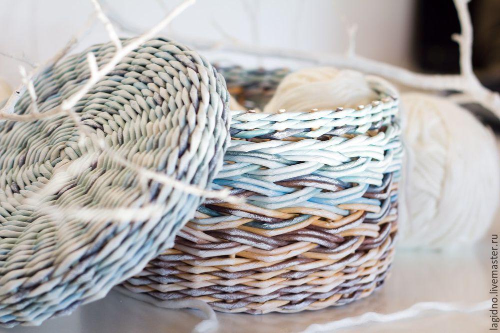 плетение из бумаги, градиент, пастельные тона, смешивание цветов