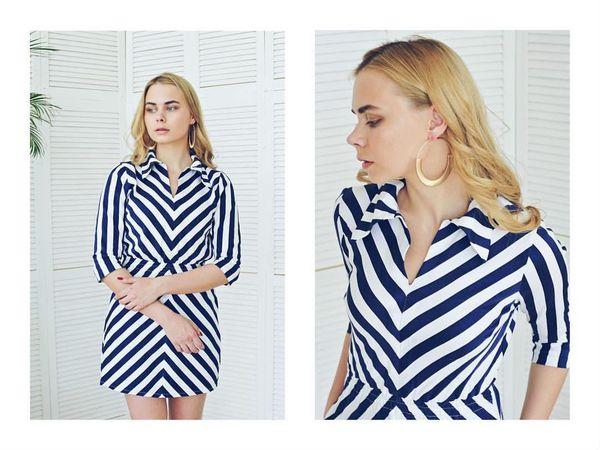 Идеальное платье ( Морячка мини)всего за 2990р | Ярмарка Мастеров - ручная работа, handmade