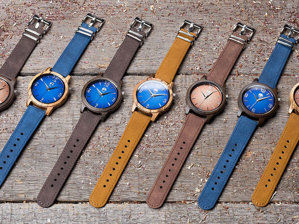 Новая коллекция стильных унисекс часов из дерева со сменными цветными ремешками | Ярмарка Мастеров - ручная работа, handmade