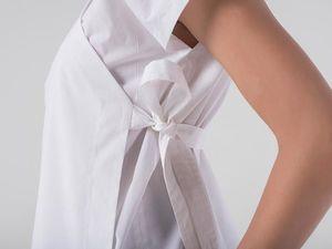 Блуза-кимоно YOKU из белого итальянского хлопка. Ярмарка Мастеров - ручная работа, handmade.
