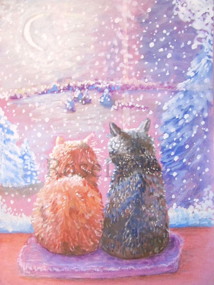 картина с котиками, розыгрыш подарка