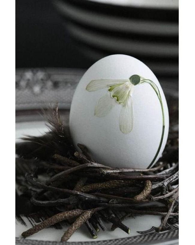 пасхальный декор, декупаж яиц гербарий