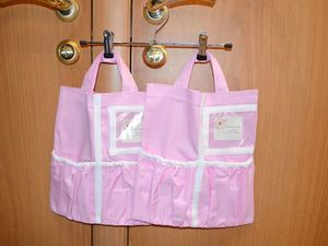 Сумочки в шкафчик детского садика. В розовом цвете!!. Ярмарка Мастеров - ручная работа, handmade.