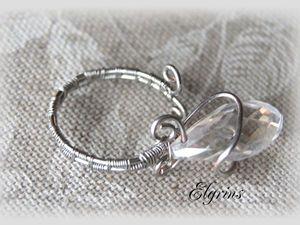 """Новая акция! Скидка дня на новые товары! Сегодня до 24:00 мск — разъемное кольцо """"wire wrap"""" """"Серебряный бутон"""". Ярмарка Мастеров - ручная работа, handmade."""