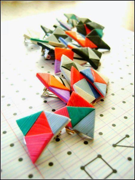 Украшения, напоминающие оригами