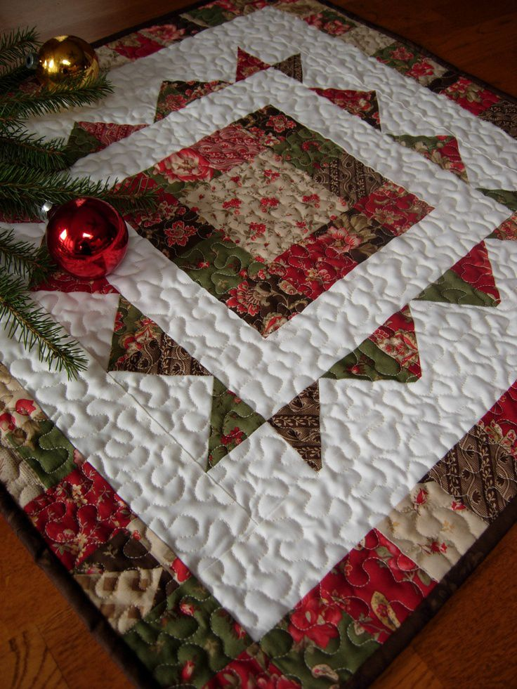 Home For The Holidays Christmas Table Topper...Love this!