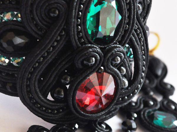 Сутажный набор украшений. | Ярмарка Мастеров - ручная работа, handmade