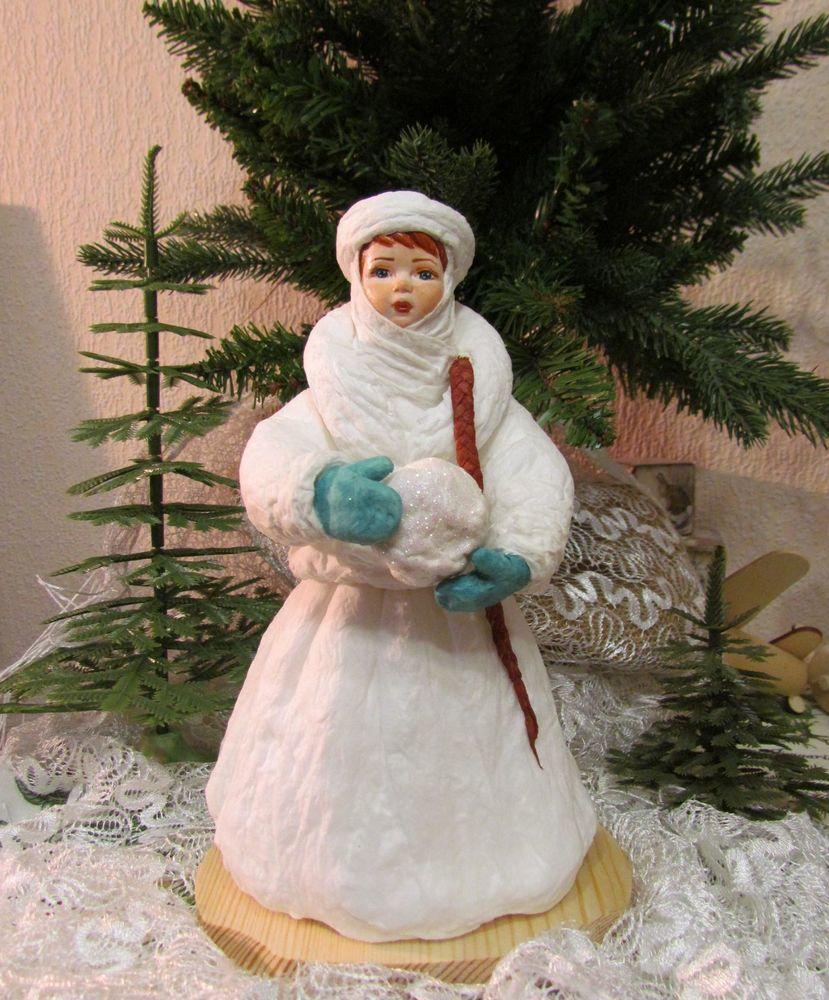 ватная игрушка, елена шведова, снегурочка из ваты