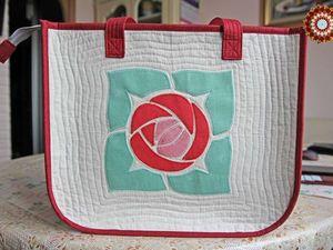 Шьем летнюю сумку с аппликацией «Роза». Ярмарка Мастеров - ручная работа, handmade.
