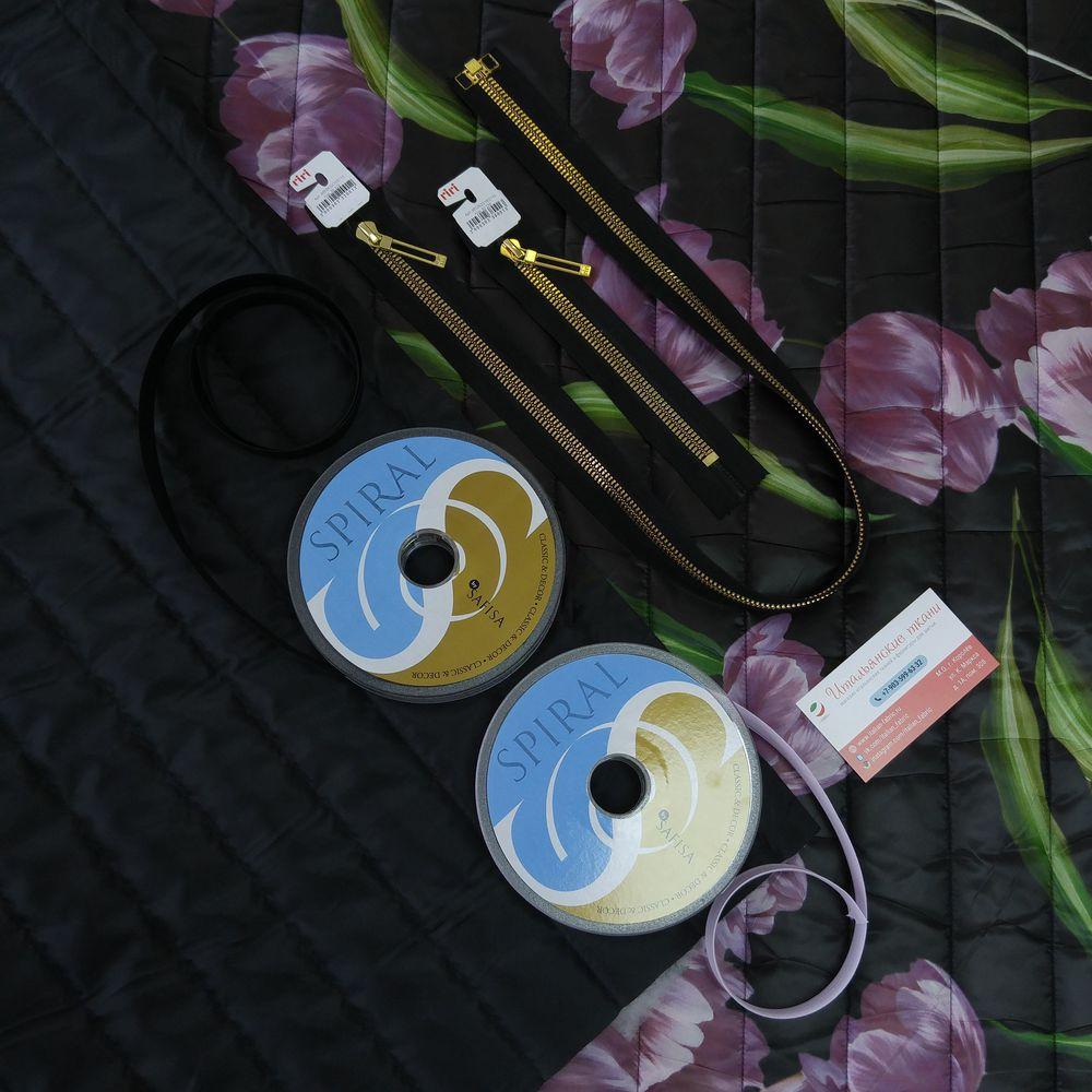 итальянские ткани, куртка, курточная ткань, пальто, полупальто, осень, зима, dolce gabbana, тюльпаны, ткани италии, цветочный принт