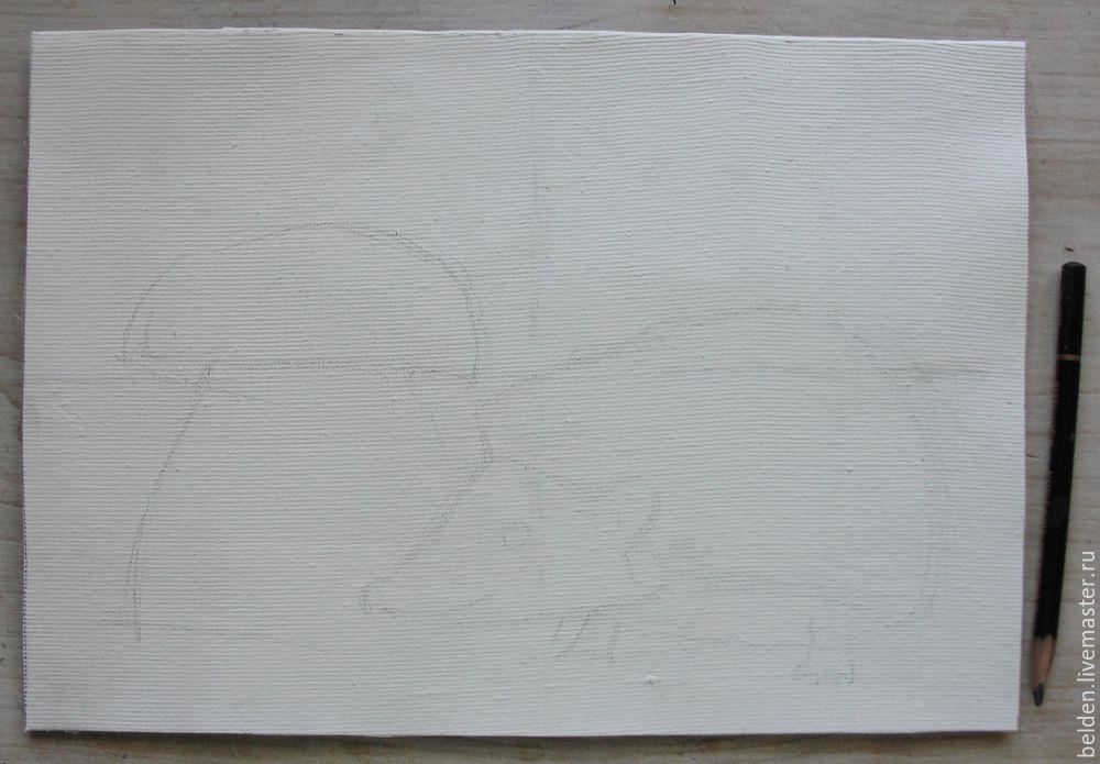 Рисуем забавного ёжика в тумане под грибом, фото № 4