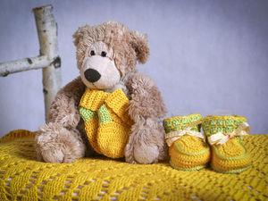 Желтый комплект для маленького солнышка. Ярмарка Мастеров - ручная работа, handmade.