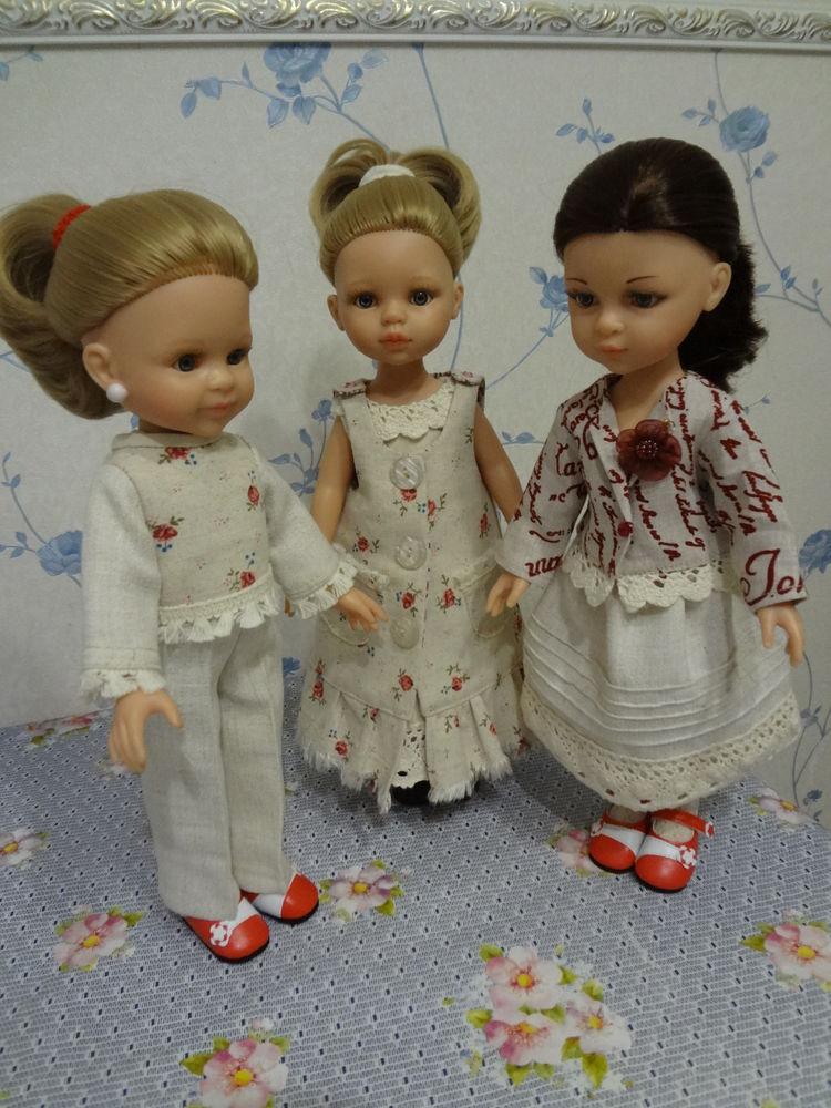 комплект, комплекты, для кукол, одежда для кукол, дополнительные фото, льняной