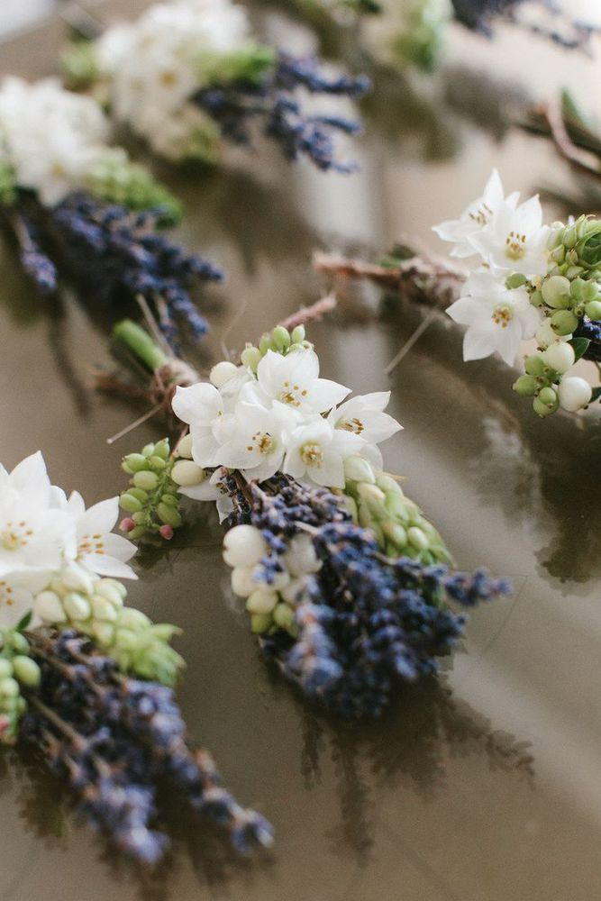 Lavender boutonnieres | Photography: Yiannis Alefantou, Floral Design: White Ribbon Boutique Events