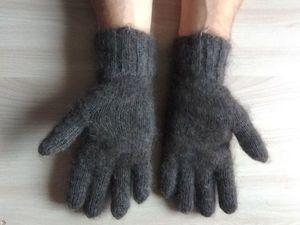 Мужские пуховые перчатки. Ярмарка Мастеров - ручная работа, handmade.