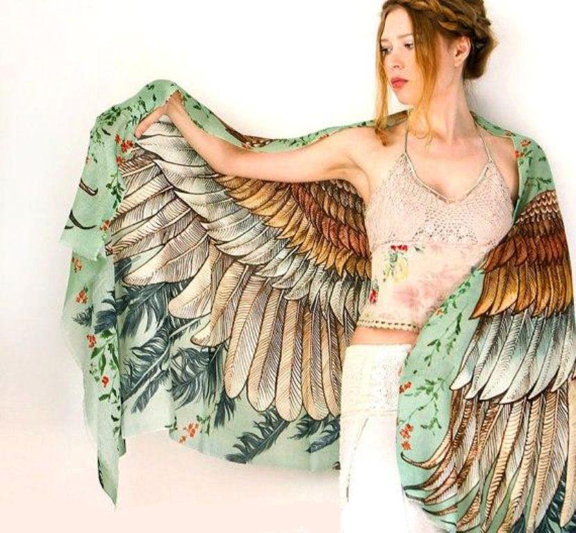 Когда вырастают крылья: завораживающие палантины Розы Хамитовой, фото № 16