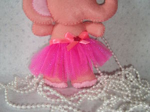 Шьем розового слоника из фетра. Ярмарка Мастеров - ручная работа, handmade.