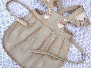 Шьем аккуратный фартучек для куклы | Ярмарка Мастеров - ручная работа, handmade