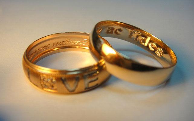 фразы для гравировки на обручальных кольцах