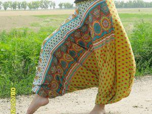 Штаны афгани | Ярмарка Мастеров - ручная работа, handmade