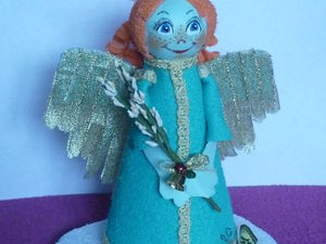 Создаем ангела Вербного воскресенья из фоамирана. Ярмарка Мастеров - ручная работа, handmade.