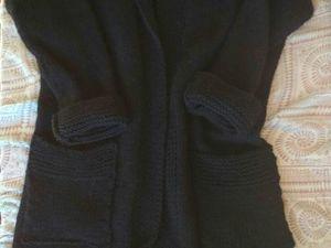 Длинный черный кардиган(или легкое пальто)Старт 4100!. Ярмарка Мастеров - ручная работа, handmade.
