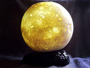 Делаем ночник «Луна» из монтажной пены и обычного фонарика. Ярмарка Мастеров - ручная работа, handmade.