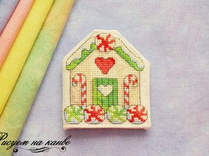 How to Make a Book Pincushion with an Embroidered Gingerbread House. Livemaster - handmade