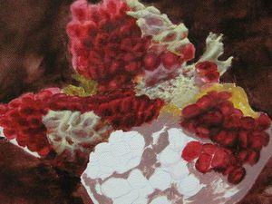 Рисуем зерна граната масляными красками: видеоурок. Ярмарка Мастеров - ручная работа, handmade.